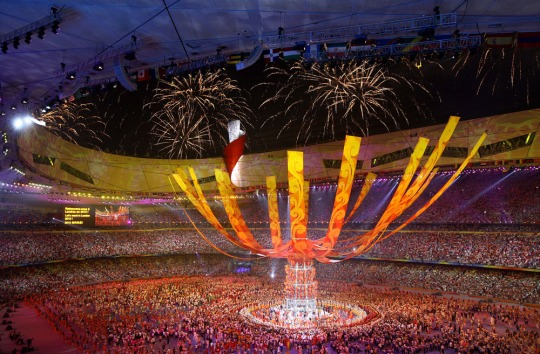 Closing Ceremonies at the the 2008 Beijing Olympics (for the New York Times)