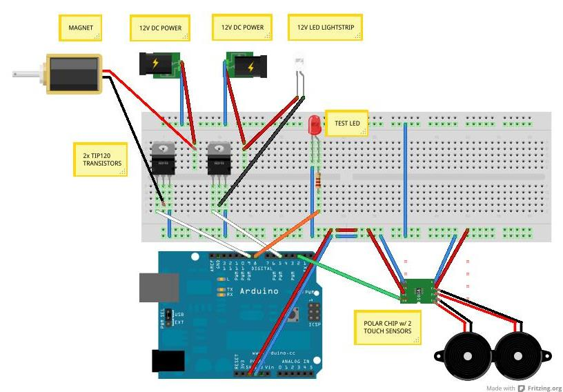 Heartwave Final Documentation further Audio Mixer Circuit Diagram moreover Bldc Motor Controlling Using Arduino additionally Ws2811 Ws2812 5050 Rgb Led Strip Light Waterproof Individually Addressable 5v further Sunfounder 2 Channel Relay Wiring Diagram. on arduino electromagnet